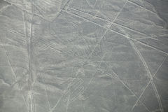Aerial view of Nazca Lines geoglyphs in Peru Stock Image