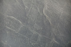 Aerial view of Nazca Lines geoglyphs in Peru. Stock Photography