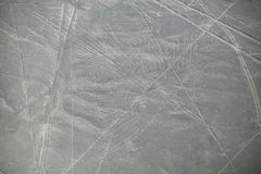 Aerial view of Nazca Lines geoglyphs in Peru Stock Images