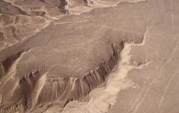 Aerial view of the Nazca Lines on hill - hummingbird Stock Images