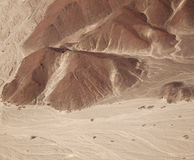 Aerial view of the Nazca Lines - Owlman, view from a distance Royalty Free Stock Image