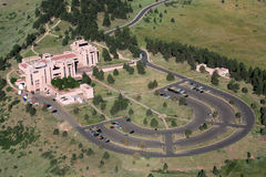 Aerial View of NCAR. NCAR and university scientists work together on research topics in atmospheric chemistry, climate, cloud physics and storms, weather hazards Stock Photography