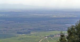 Aerial view near Haut-Koenigsbourg Castle Stock Photo