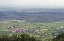 Aerial View Near Haut-Koenigsbourg Castle In France Royalty Free Stock Photos
