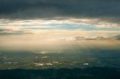 Aerial view near Heidelberg, Germany Royalty Free Stock Photo