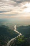 Aerial view near Heidelberg, Germany Stock Image