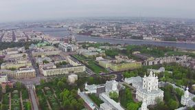 Aerial View near Smolny Cathedral stock video