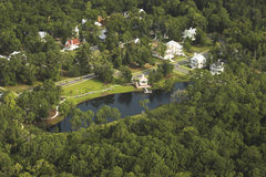 Aerial view of neighborhood Royalty Free Stock Photo