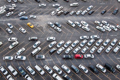 An aerial view of a new car parking area Stock Images