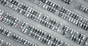 Aerial view new cars Stock Image