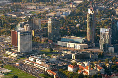 Aerial view of New Center of Vilnius, Lithuania Stock Photography