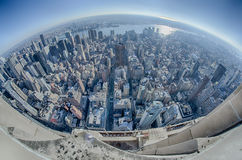 Aerial view of New City skyline, Manhattan, New York Stock Images