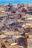 Aerial view from New fortress Kerkyra, Corfu island, Greece Stock Images