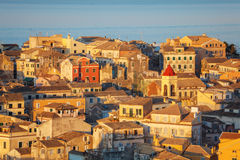 Aerial view from New fortress Kerkyra, Corfu island, Greece Royalty Free Stock Photos