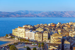 Aerial view from New fortress Kerkyra, Corfu island, Greece Royalty Free Stock Photography