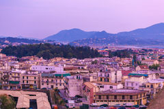 Aerial view from New fortress Kerkyra, Corfu island, Greece Royalty Free Stock Photo