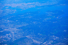 Aerial view of New Jersey. Aerial view of high population density of New Jersey, and New York, USA stock images