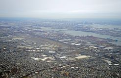 Aerial view of the New Jersey turnpike and Newark Liberty International Airport Stock Images