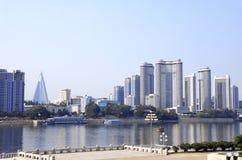 Aerial view of Pyongyang, capital city of the DPRK, North Korea Stock Image