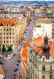 Aerial view from The New Town Hall Tower in the old center of Pr Royalty Free Stock Image