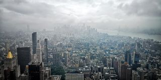 Aerial view of New York City royalty free stock photos