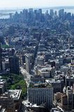 Aerial view of New York city. Aerial view of of district of Manhattan, New York city, U.S.A royalty free stock images