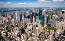 Aerial view of New York City stock images