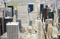 Aerial view of New York City buildings Royalty Free Stock Photos