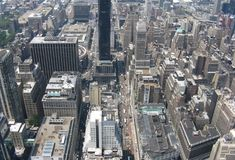 Aerial view of New York city. Aerial view of downtown New York city, U.S.A Stock Photos