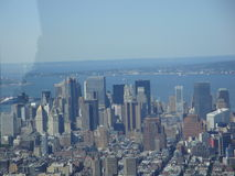 Aerial view of New York. New York city aerial view from high point royalty free stock photography