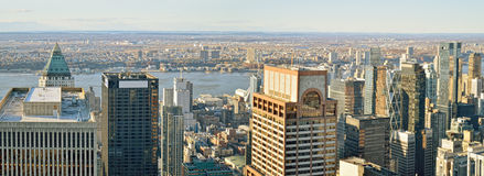 Aerial view of the New York City. Stock Image
