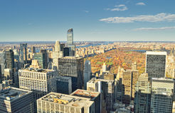 Aerial view of the New York City. Stock Photography