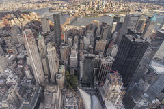 Aerial view of New York City Stock Photography
