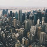 Aerial view of New York City skyline Stock Photography