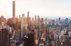 Aerial view of the New York City skyline. Near Midtown Stock Image