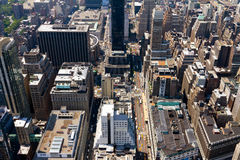 Aerial View of New York City Streets Stock Images