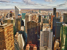 Aerial view of the New York City. Royalty Free Stock Images