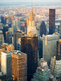 Aerial view of New York City at sunset Stock Photography