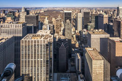 Aerial View of New York city in the USA. Stock Images