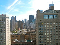 Aerial view of New York skyline. Skyline of New York City, seen from the Upper East Side Stock Photos
