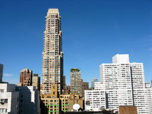 Aerial view of New York skyline. Skyline of New York City, seen from the Upper East Side Stock Photography