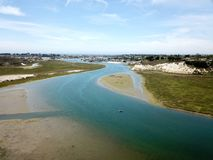 Aerial view of Newport Beach back bay in california. Aerial view of Newport Beach back bay wetlands in Orange County california Stock Photography