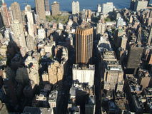 An aerial view of Newyork city Royalty Free Stock Photo