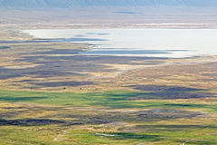 Aerial view on Ngorongoro Conservation Area Stock Photos