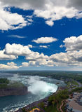 An aerial view of the Niagara Falls Royalty Free Stock Photography