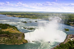 Aerial view of the niagara falls stock image