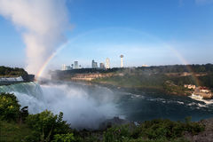 Aerial view of Niagara Falls and rainbow Stock Image