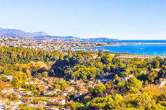 Aerial view of Nice, Cote d'Azur Royalty Free Stock Images