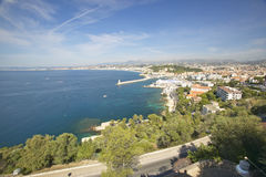 Aerial View of Nice, France Royalty Free Stock Photos