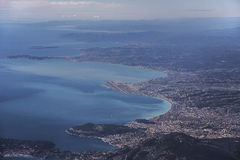 Aerial view on Nice France Royalty Free Stock Image